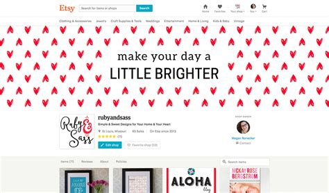 designing the new etsy shop cover photo ruby and sass