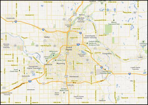 map usa grand rapids map of grand rapids mi my