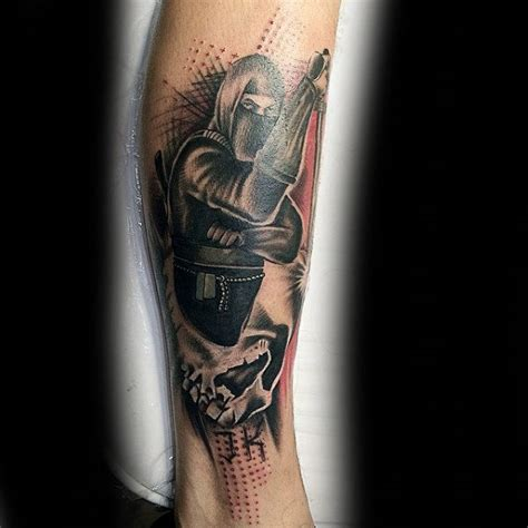 30 ninja tattoos for men ancient japanese warrior design
