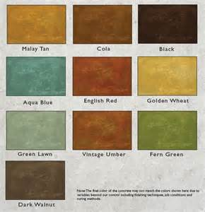acid stain colors decorative concrete staining sted concrete concrete