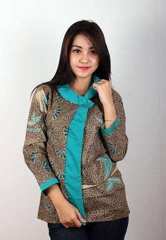Top Kemeja Tunik L Fit Xl Kefa Katun Rayon Kotak Quality tunik batik kombinasi pusat batik madura