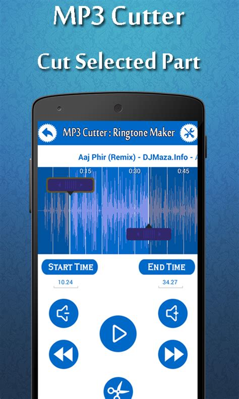 ringtones maker for android phone ringtone maker and mp3 cutter free android app android freeware