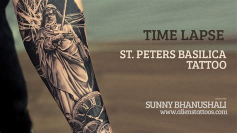 time lapse making of st peters basilica tattoo by sunny
