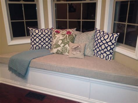 window bench seat cushion custom trapezoid bay window seat cushion with cording