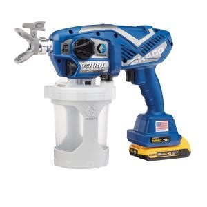 home depot hvlp paint sprayer graco tc pro cordless airless paint sprayer 17n166 the