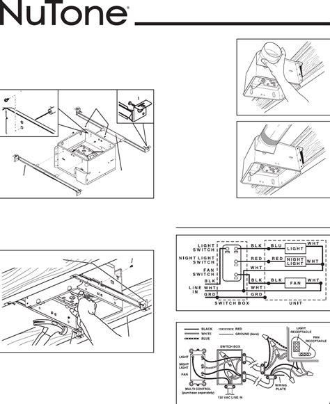nutone heat a vent switch wiring diagrams wiring diagram