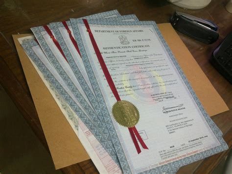 Nso Marriage Certificate Records Philippine Documents Information Dfa Authentication Ribbon