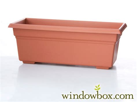 plastic window box liners 24in countryside vinyl window box liner terra cotta