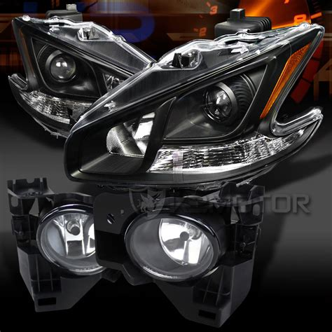 2000 nissan maxima headlight bulb for 2009 2014 nissan maxima black projector headlights