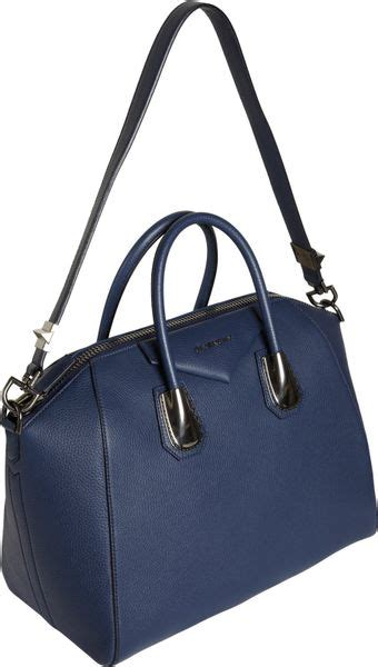 Givenchy Antigona Kenya Grained Metalic givenchy kenya metal medium antigona duffel in blue lyst