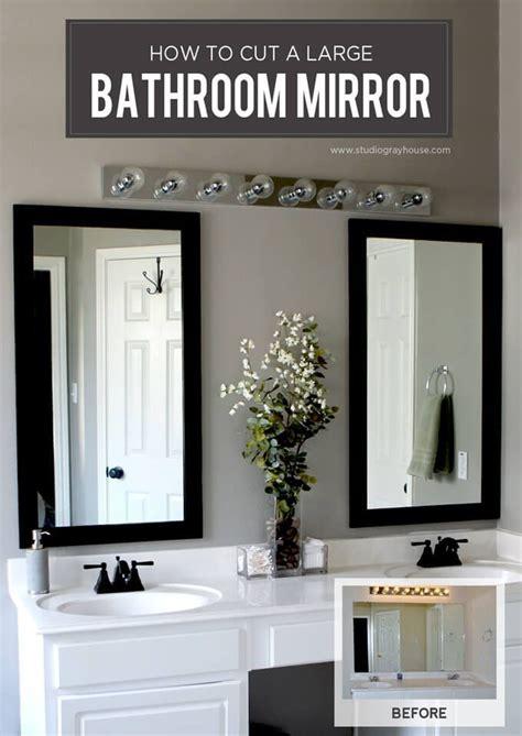 best diy crafts ideas cut a bathroom mirror diy loop