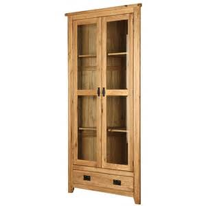 Corner Cabinet Display Lincoln Oak 171 Product Categories 171 Oak Furniture Direct