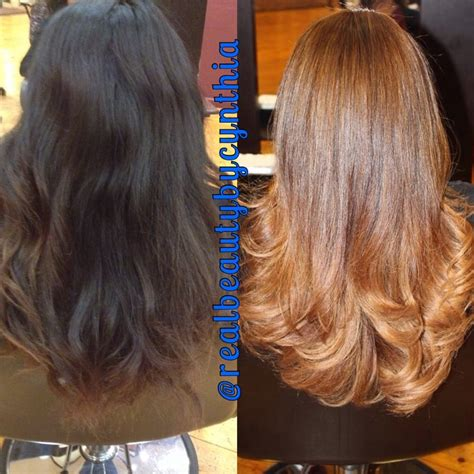 back short hair shots beautiful before and after back shot dark brown black to