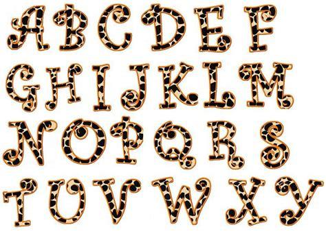 leopard pattern font animal print letters printable leopard print letters