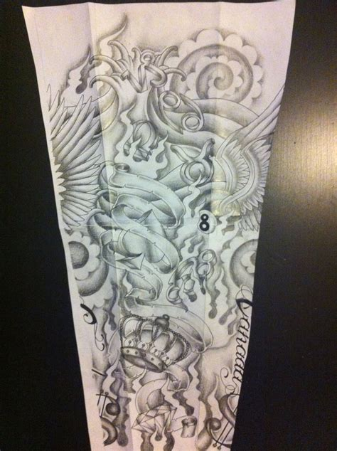 sleeve tattoo design by tattoosuzette on deviantart