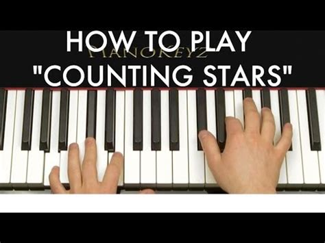 counting stars keyboard tutorial easy how to play counting stars by onerepublic on piano doovi
