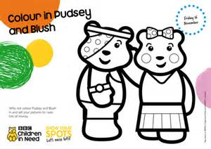 Pudsey Template Printables by Colour In Pudsey By Bbcchildreninneed Teaching Resources