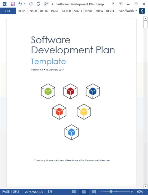 software development plan template ms word
