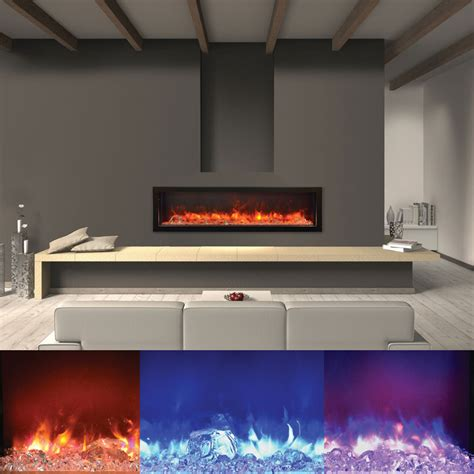 Outdoor Electric Fireplaces by Amantii Bi 60 Panorama 60 Inch Indoor Outdoor