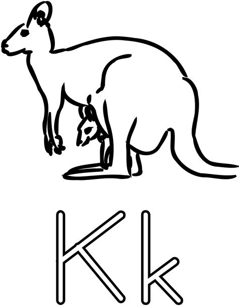 Drawing K by Clipart K Is For Kangaroo