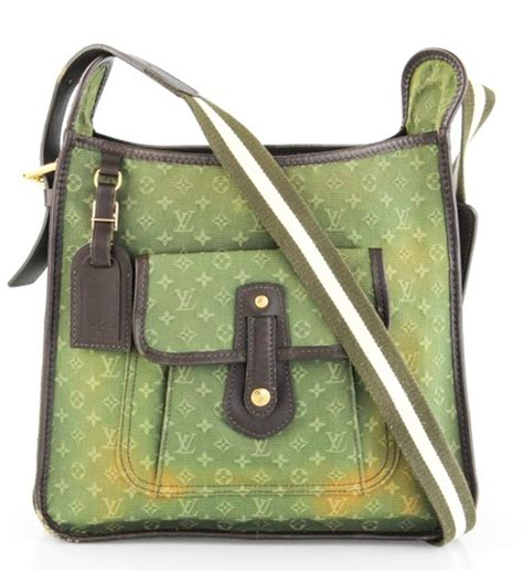 louis vuitton olive green monogram canvas mary kate