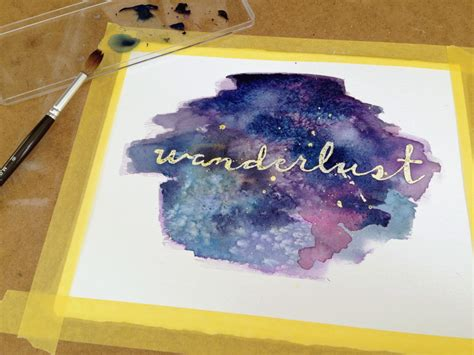 watercolor masking tutorial galaxy watercolor wall art with masking fluid diy
