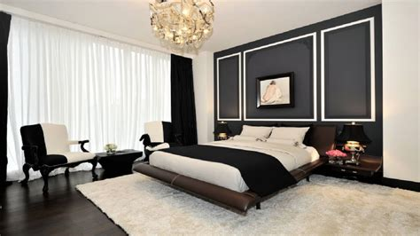beautiful black  white bedroom decorating ideas