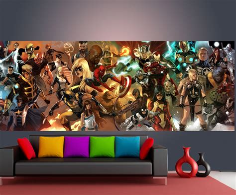 comic wall mural aliexpress buy the wallpaper custom wall mural marvel comics photo wallpaper