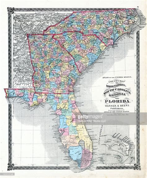 map of south carolina and florida 1876 county map of carolina south carolina