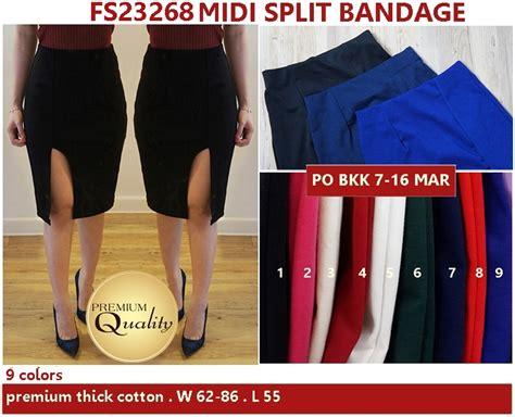 Accesoris Midi Dress Murah by Midi Split Bandage Supplier Baju Bangkok Korea Dan