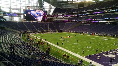 ultimate fan zone us bank stadium u s bank stadium section 124 rateyourseats com