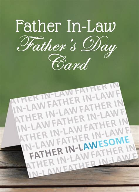 in law father in law card somewhat simple