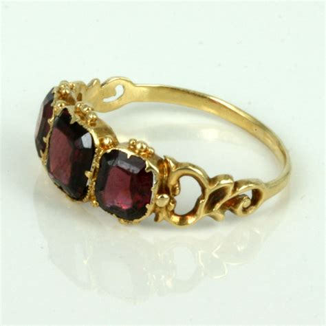 buy antique garnet ring from the 1840 s sold items sold