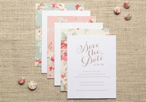 Cotton Paper Wedding Invitations by Vintage Floral Cotton Wedding Invitation Inspiration