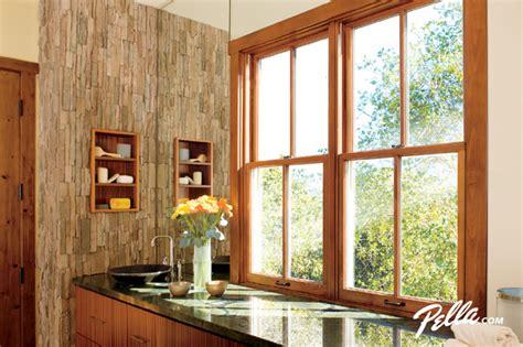 pella bathroom windows pella 174 architect series 174 double hung windows add style