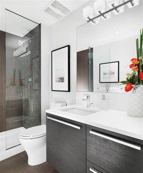 Modern Small Bathroom Trends 2018 Create The Optical Pictures Of Small Modern Bathrooms