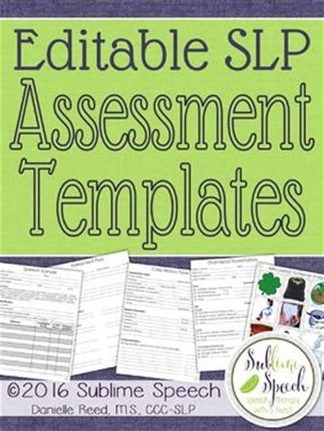 preschool speech language evaluation report template editable slp assessment templates speech therapy