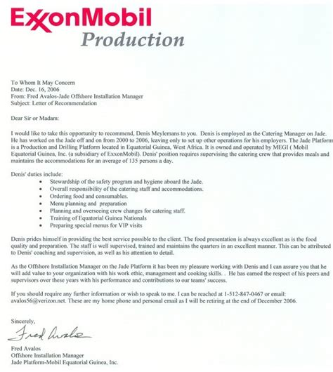 Rig Chef Cover Letter by Cover Letter For Rig Field Supervisor Cover Cover Letter Exle The Best