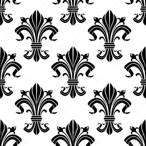 floral pattern in french medieval french floral seamless pattern stock vector