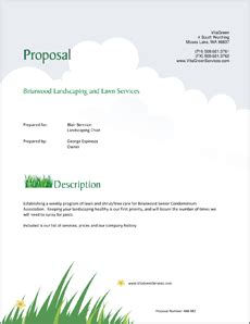 Sle Business Proposals Lawn Care And Landscaping Services Proposal Lawn Care Bid Template