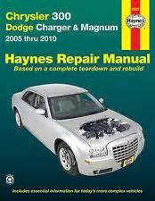 Chrysler Photo Repair Chrysler 300 Repair Manual Ebay