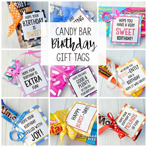 Bar Gifts Bar Birthday Tags Projects