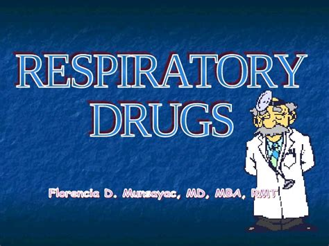 Maryland Mba Class Profile by Respiratory Drugs