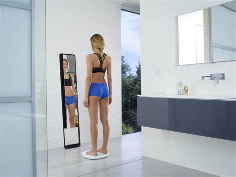 butt naked on the bathroom floor new smart mirror takes a 3d body scan and tracks fitness
