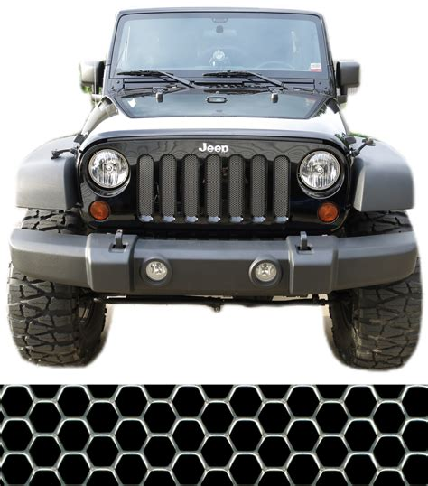 Jeep Wrangler Grill Mesh Ccg 07 17 Jeep Wrangler Jk Perf Hexagon Grill Grille Mesh