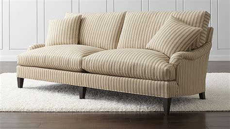 essex sofa napa stripe sand crate and barrel