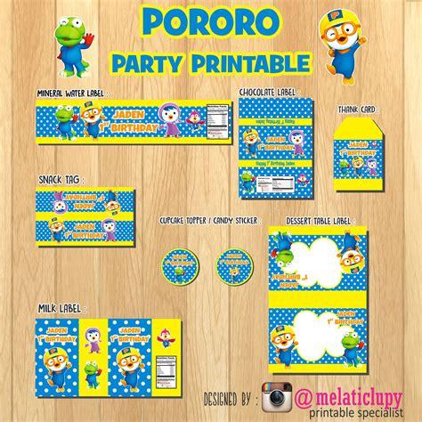 Stiker Ultah 1 jual paket stiker dan label ulang tahun anak tema pororo