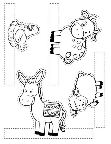 printable nativity scene animals my bible bible crafts and nativity on pinterest