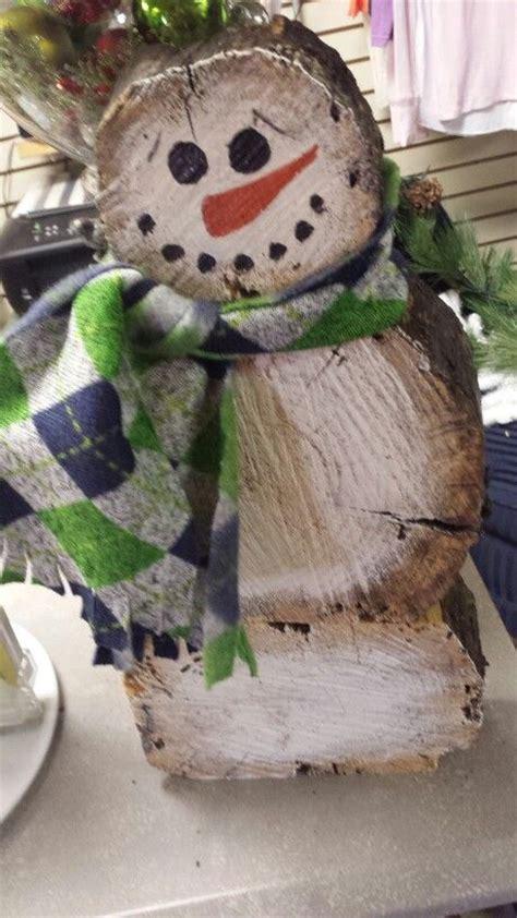 log slab snowmen snowmen pinterest logs  snowman