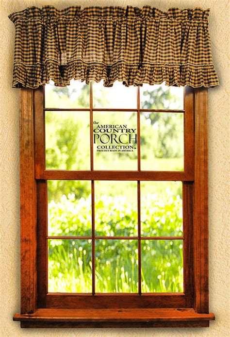 The Country Porch Curtains Cambridge Ruffled Window Curtain Valances